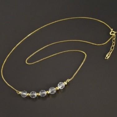 Zlatý náhrdelník s křišťály č.1