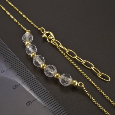 Zlatý náhrdelník s křišťály č.2