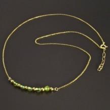 Zlatý náhrdelník s olivíny